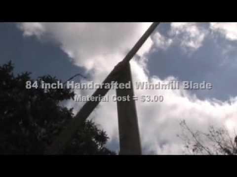 WIND HANDCRAFTED BLADE TURBINE WINDMILL ALTERNATIVE GREEN PO
