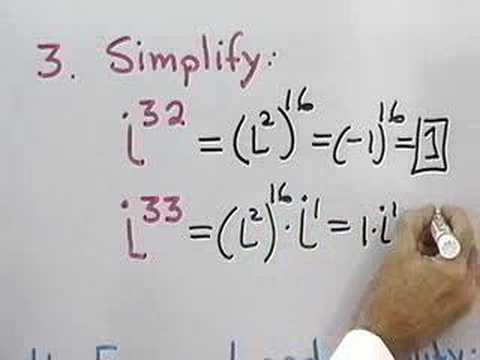 Trigonometry: Complex Numbers