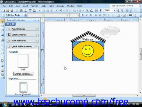 Publisher 2003 Tutorial Selecting Multiple Objects Microsoft Training Lesson 6.6