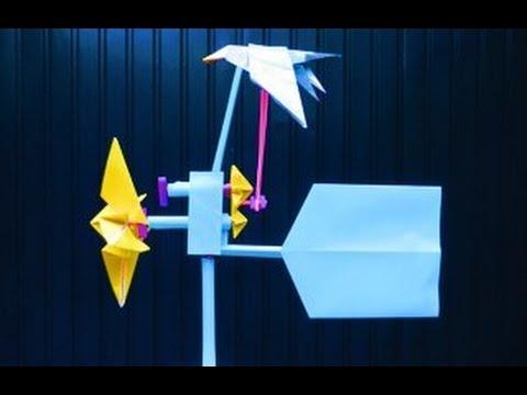 Origami Wind Vane: FLAPPING SEA-GULL