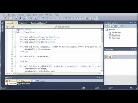 Visual Basic Tutorial - 96 - Person Part 5
