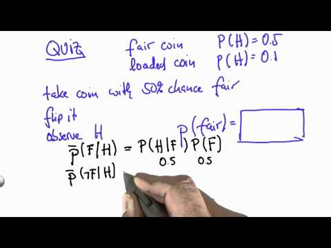 Two Coin Quiz Solution - CS373 Unit 1 - Udacity