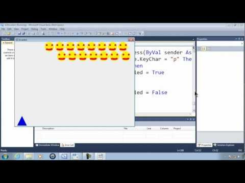 Visual Basic Express 2010 Tutorial 43 - Pausing The Game - EZInvaders Part 12 Video Game