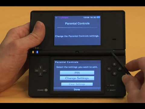 Setting DSi Parental Controls