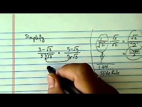 Rationalize Denominator: how and why --- (3-√3) / (5+√3)