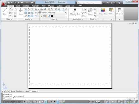 Plot a Drawing Layout — AutoCAD 2011
