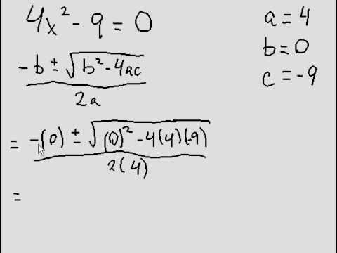 Quadratic Formula - difference of squares