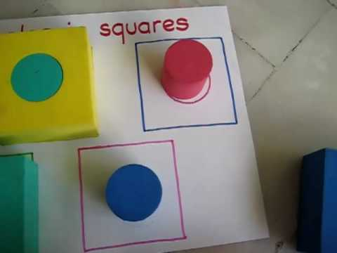 Toddler - Math. Shape match