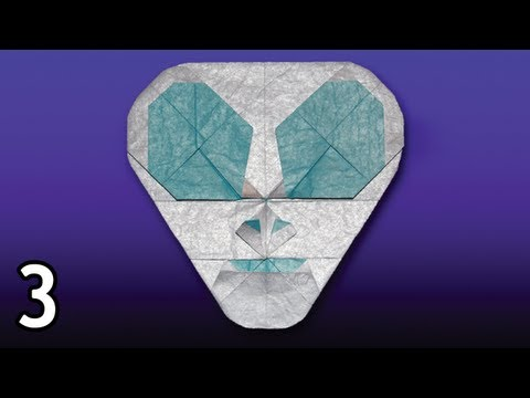 Origami Spaceman by Quentin Trollip (Folding Instructions) ~Part Three~