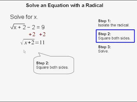 Solve an equation with a radical