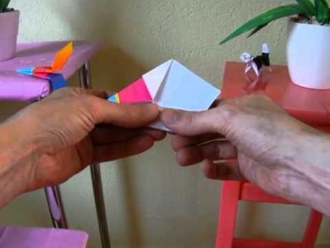 Origami Flying Spinning Top
