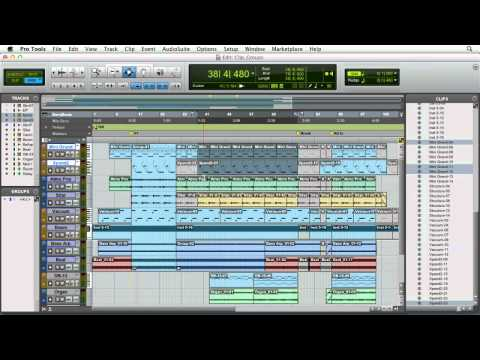 Pro Tools 10: Working with clip groups | lynda.com tutorial
