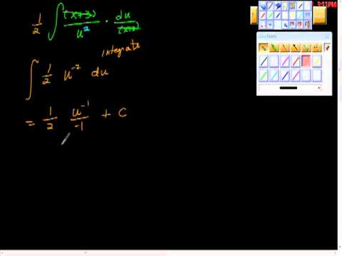 Recognizing Patterns of Integration #71 AP Calculus