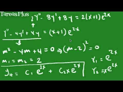 Solución ED por variación de parámetros parte 1
