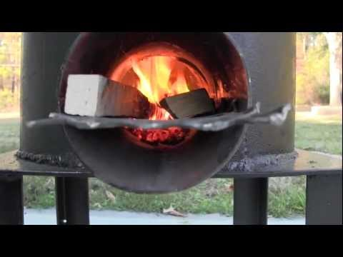 rocket stove cooking burgers