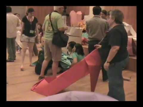 Oversized Origami Folding Event at OrigamiUSA 2010