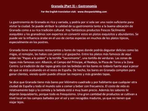 Spanish English Parallel Texts Granada (Part 3) Gastronomía