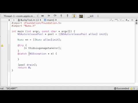 Objective C Programming Tutorial - 42 - Error / Exception Handling