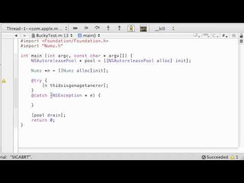 Objective C Programming Tutorial - 42 - Error / Exception Handling