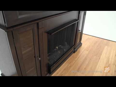 Real Flame Lannon Ventless Gel Fireplace in Dark Walnut - The Home Depot