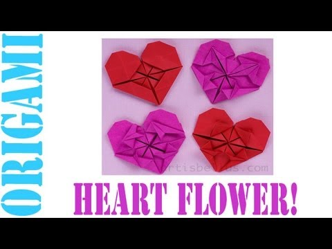 Origami Daily - 166: Heart & Flower (Valentine's Day) TCGames [HD]