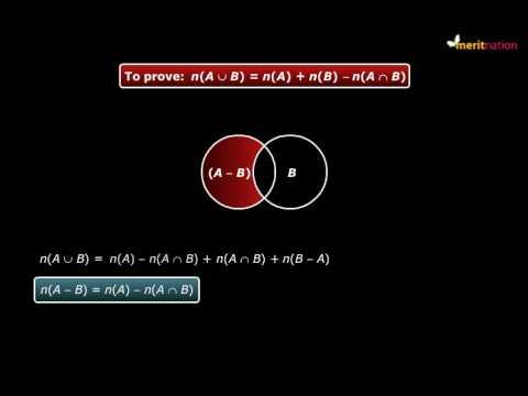 Proving formula for n (A U B)