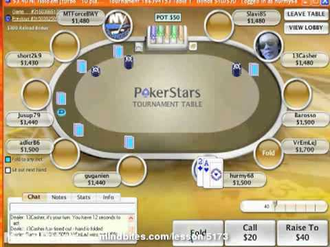 Texas Holdem Live Sit and Go Strategy Video