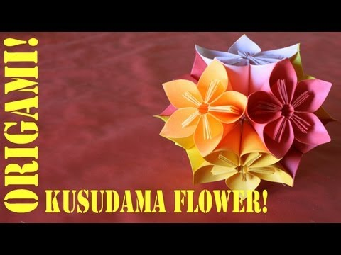 Origami Daily - 237: Modular 5 Unit Flower (Blossoms) - TCGames [HD]