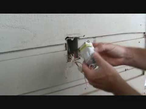 Removing an exterior electrical outlet box