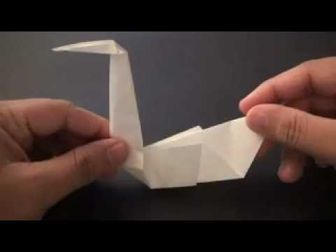Origami Daily - 281 Easy Swan - TCGames [HD]
