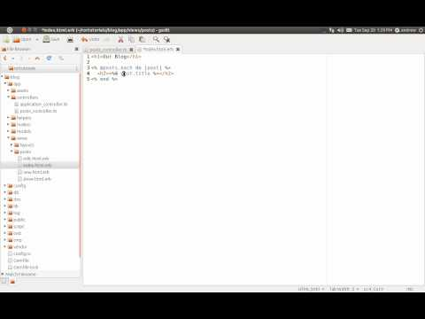 Ruby on Rails Tutorial Part 4 - CRUD - Read - All Method