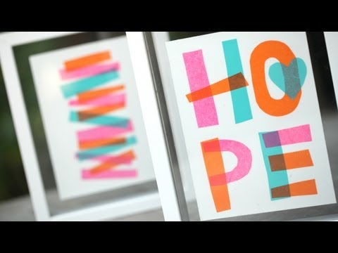 Tissue Paper Collage: How to Make || KIN DIY