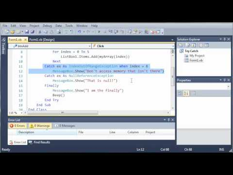 Visual Basic Tutorial - 137 - When Keyword