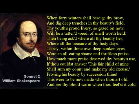 Shakespeare Sonnet 2 with text