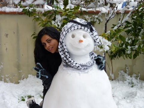 The first Palestinian Snow Man :)