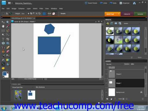 Photoshop Elements 9.0 Tutorial Vector Graphics Adobe Training Lesson 4.2