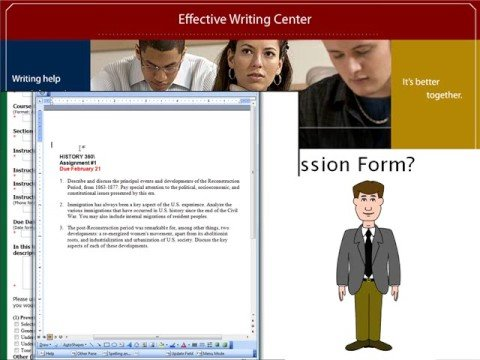 Virtual Tour of UMUC's Effective Writing Center Online