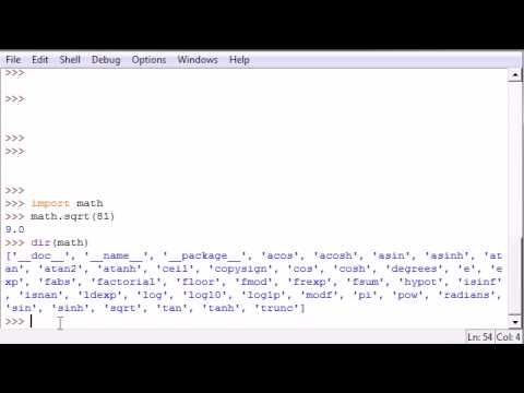 Python Programming Tutorial - 40 - Getting Module Info