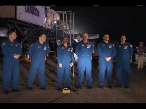 Returning Shuttle Crew Comments on Successful Mission
