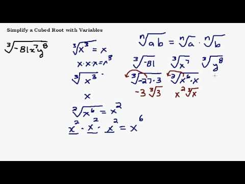 Simplify a Cube Root with Variables