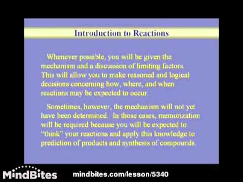 Organic Chemistry Lesson: Chemical Reactions