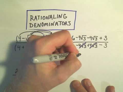 Rationalize the Denominator - Example 3