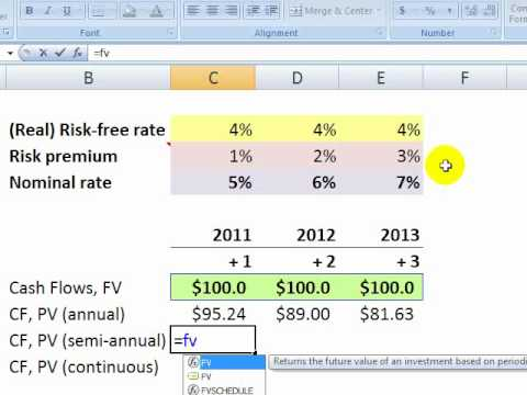 Toolkit: Discounted cash flow