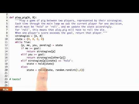 Play Pig Solution - CS212 Unit 5 - Udacity