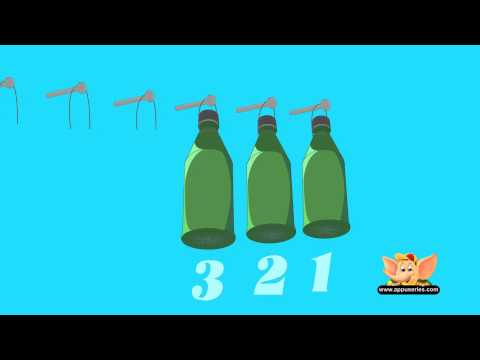 Ten Green Bottles - Nursery Rhyme (HD)