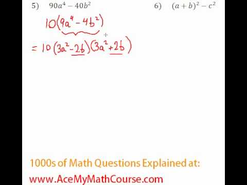 Polynomials - Factoring Completely #5-6