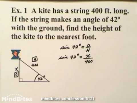 Trig: Word Problems - Sine, Cosine & Tangent