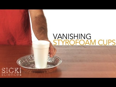 Vanishing Styrofoam Cups - Sick Science! #104