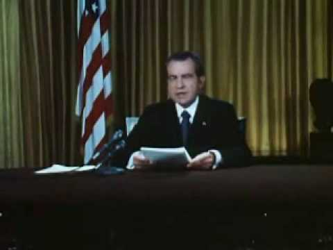 Nixon Defends His Office On Watergate Charges