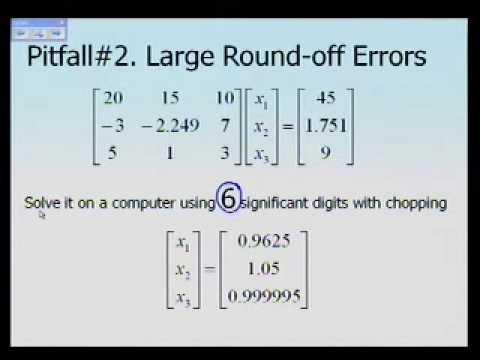 Pitfalls of Naive Gaussian Elimination